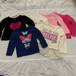 Toddler Girls Long Sleeve T Shirt Lot 2t